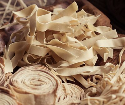Traditional handmade pasta